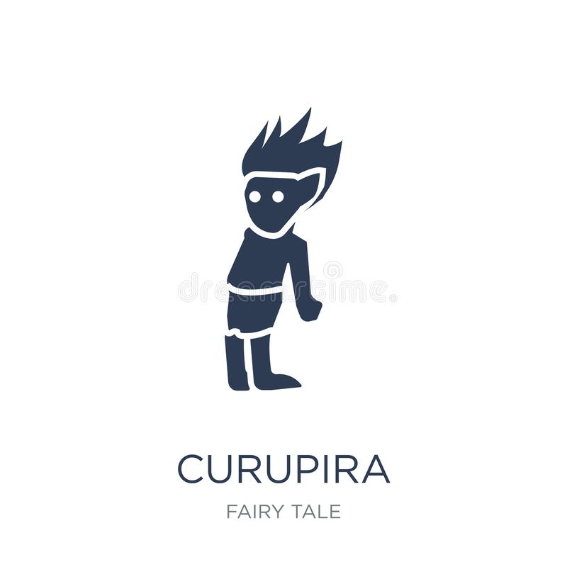 Curupira ikona Modna płaska wektorowa Curupira ikona na białym backgro royalty ilustracja