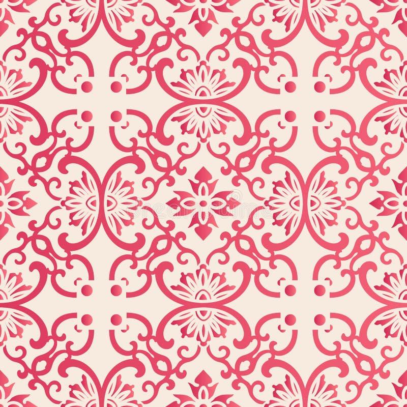 Curv senza cuciture elegante di spirale del fiore del giardino botanico di stile cinese royalty illustrazione gratis