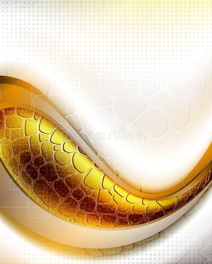 Curva abstracta stock de ilustración