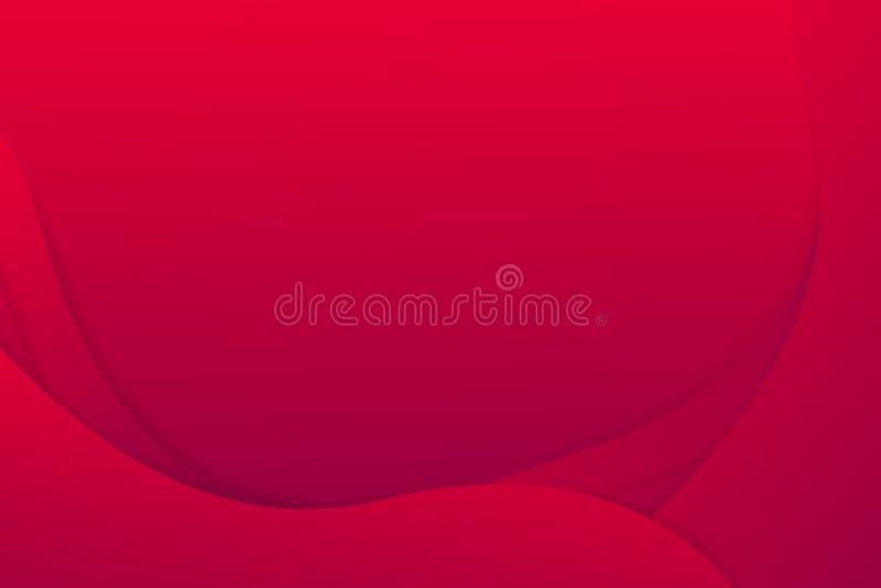 Curva abstracta del color rojo del modelo del diseño gráfico stock de ilustración