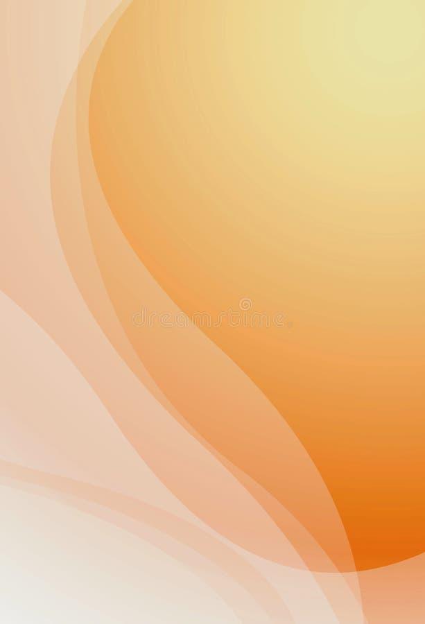 Curva abstrata ilustração stock