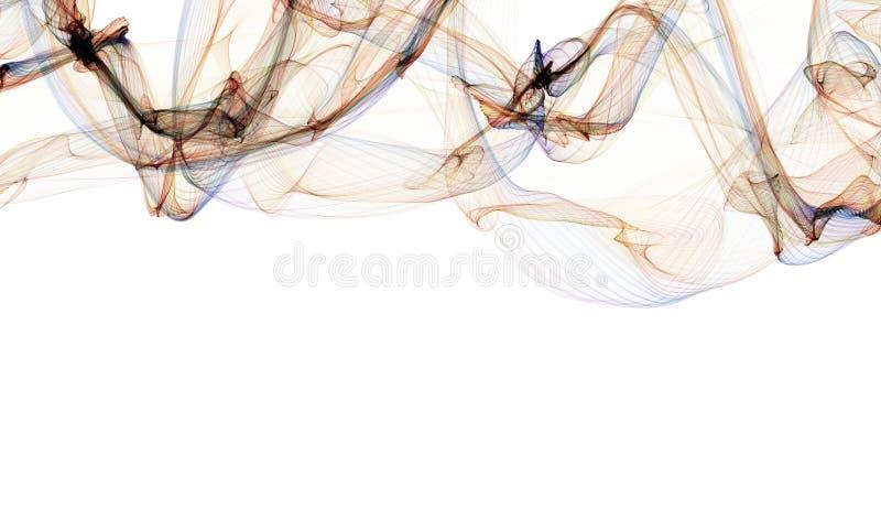 Curva abstrata bonita da onda do fundo ilustração do vetor
