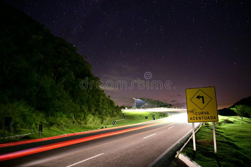 Curva afiada para as estrelas fotos de stock