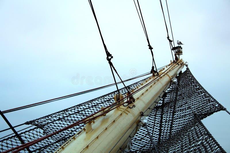 Curva alta do navio fotografia de stock