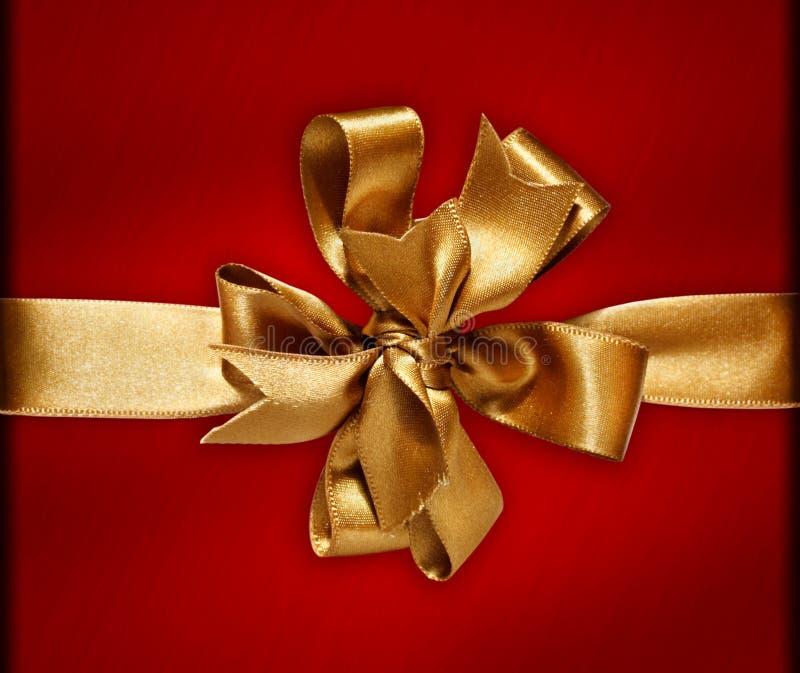 Curva & fita douradas fotografia de stock
