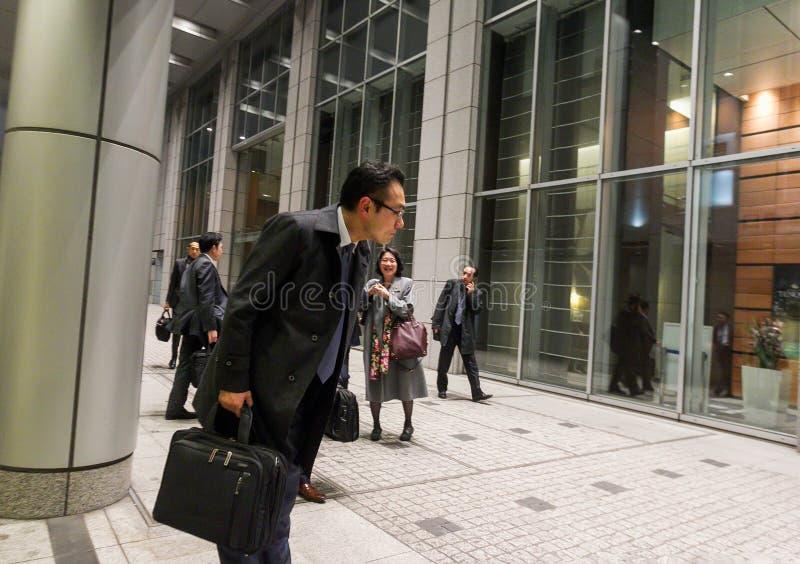 curva ao subordinado à cabeça no Tóquio fotografia de stock
