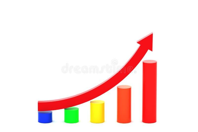 Curva in aumento illustrazione vettoriale