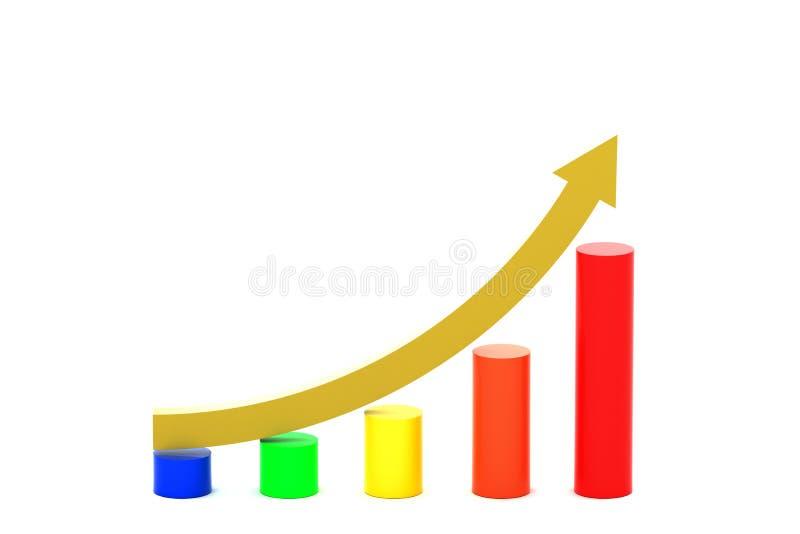 Curva in aumento illustrazione di stock
