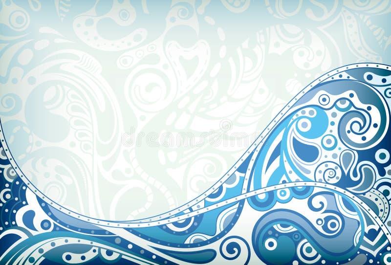 Curva azul abstracta ilustración del vector