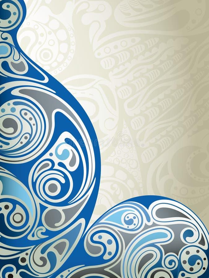 Curva azul abstracta libre illustration