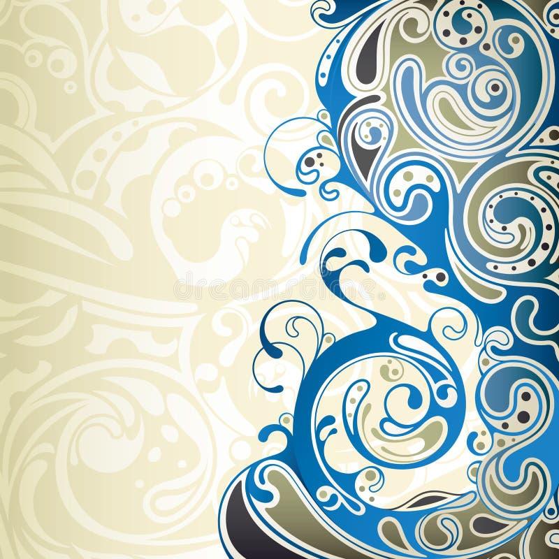 Curva blu astratta illustrazione di stock