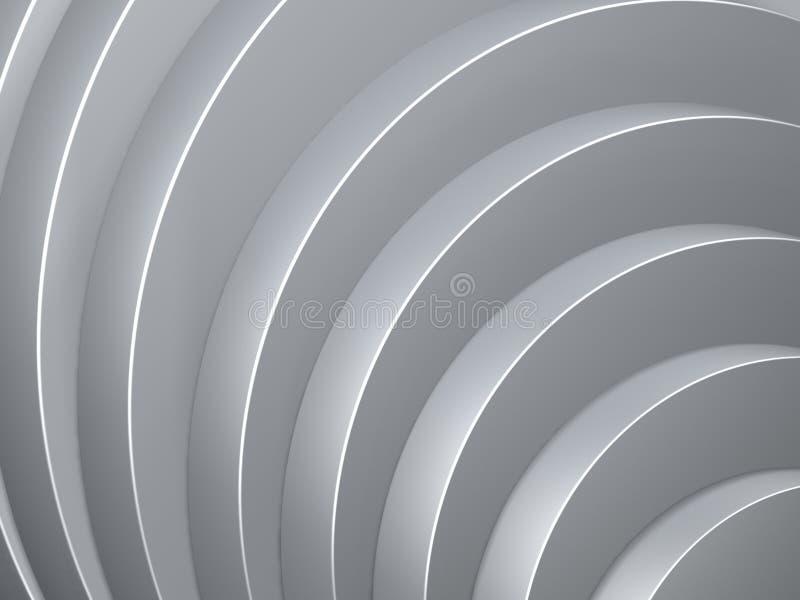 Curva cinzenta do cilindro ilustração do vetor