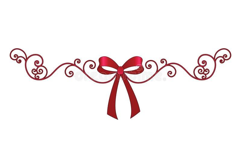 Curva com a bobina elegante filigree ilustração royalty free