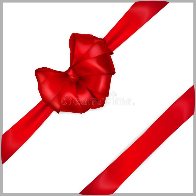 Curva coração-dada forma vermelho com fitas ilustração royalty free