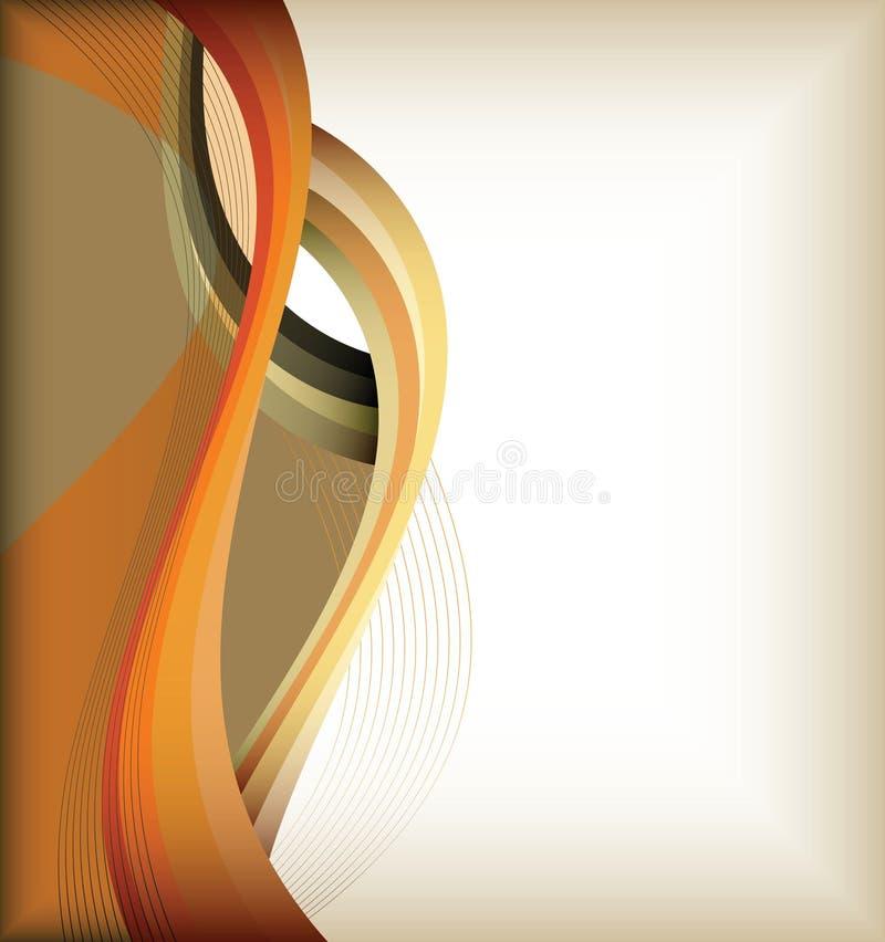 A curva da cor alinha o fundo ilustração stock