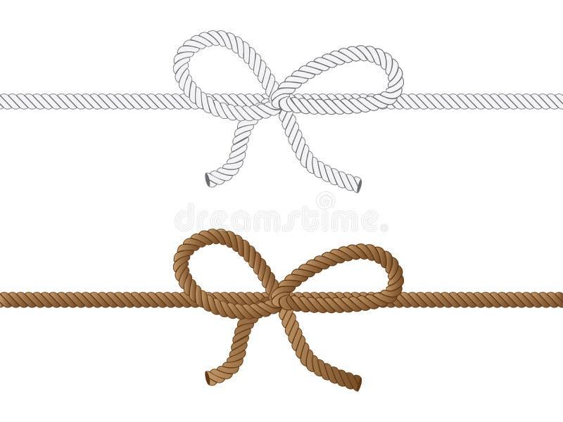 Curva da corda ilustração do vetor