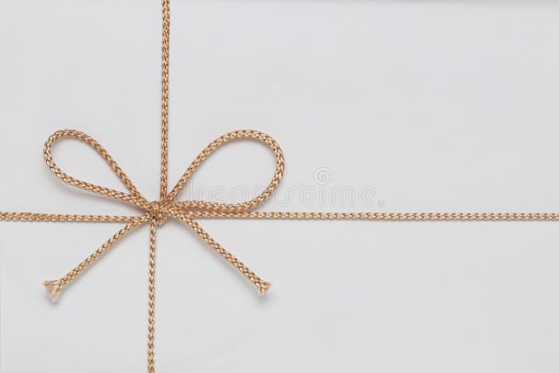 Curva da corda do presente foto de stock