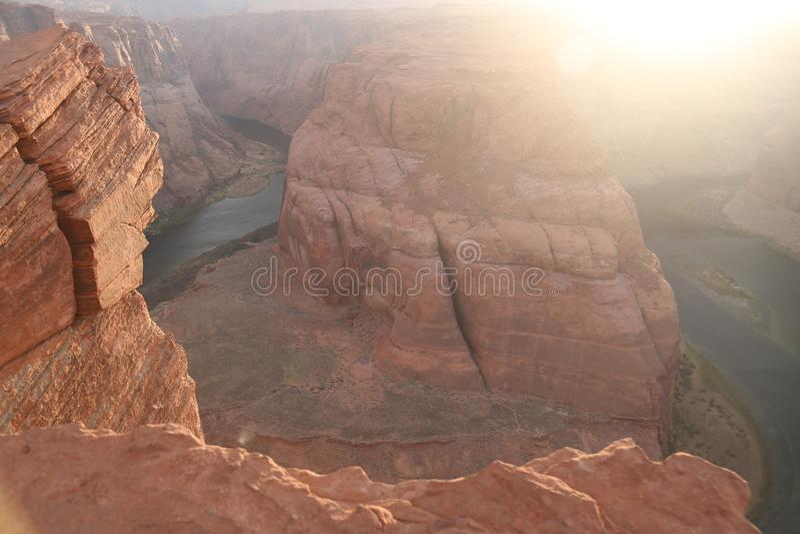 Curva de herradura el río Colorado, Arizona imagen de archivo libre de regalías