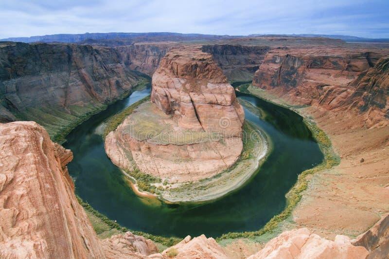 Curva de herradura, paginación, Arizona imagen de archivo