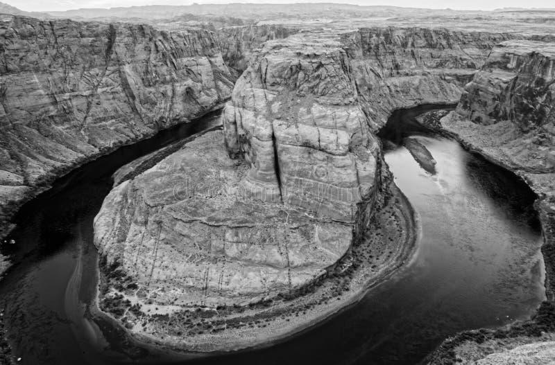 Curva de herradura, río de Colorado, Arizona foto de archivo