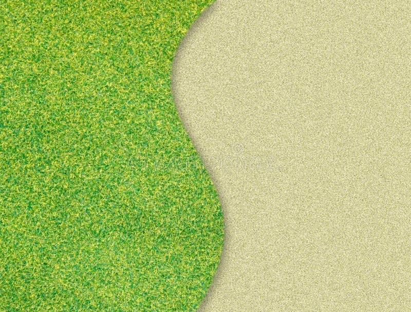 Curva de la hierba verde en la arena imagen de archivo