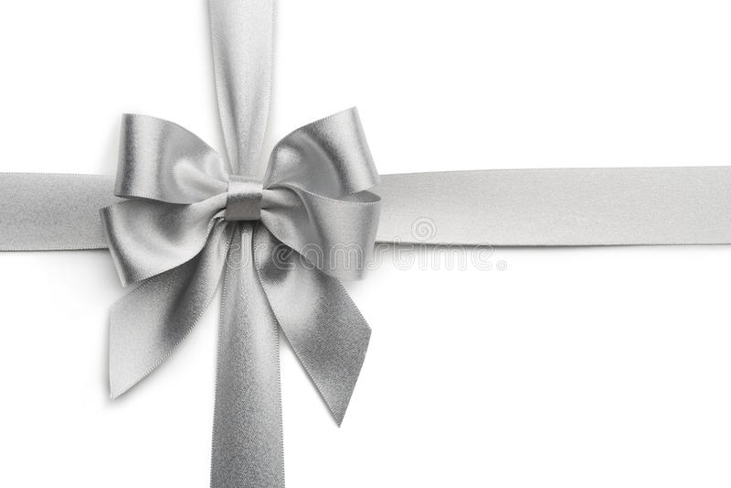 Curva de prata da fita imagens de stock royalty free