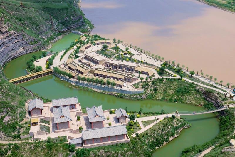 Curva de Qiankun del río Amarillo imagen de archivo libre de regalías