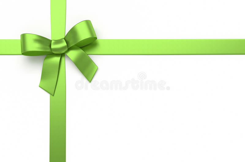 Curva de seda verde imagem de stock royalty free