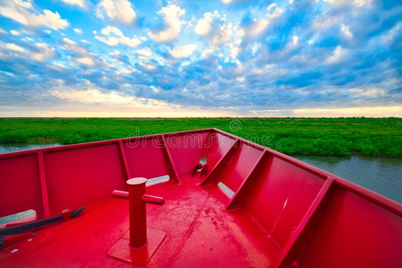 Curva de um barco foto de stock royalty free