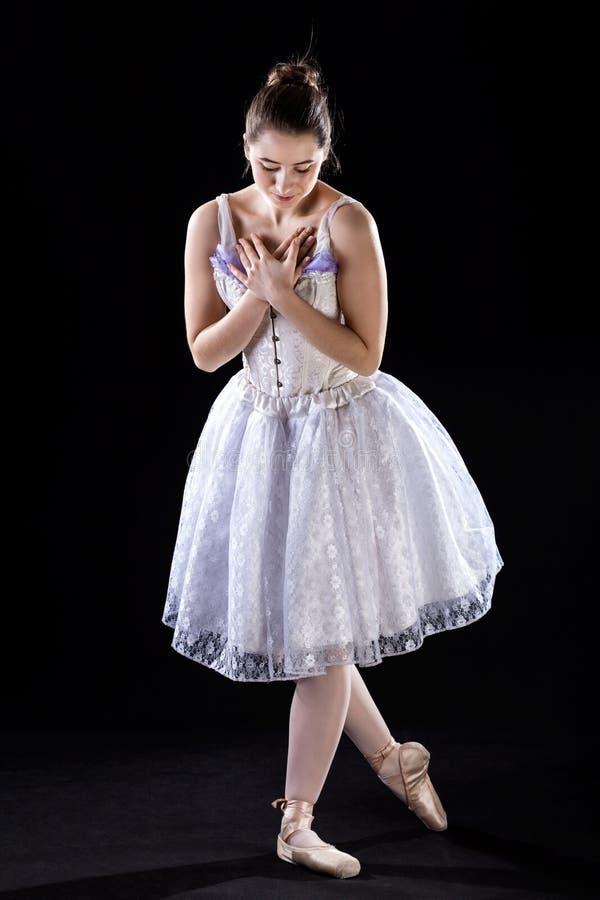 Curva de uma bailarina imagens de stock