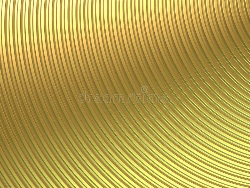 Curva del oro ilustración del vector