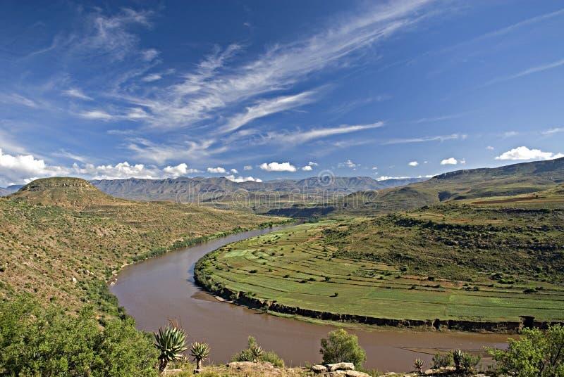 Curva del río fotos de archivo libres de regalías