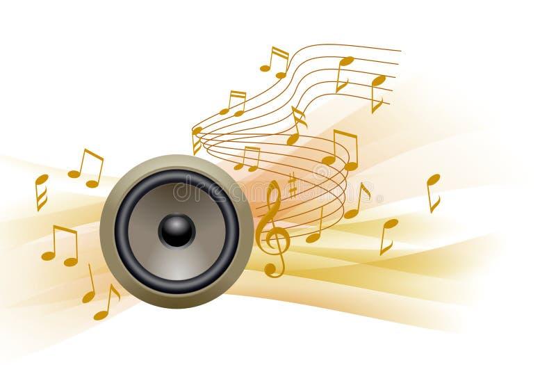Curva della nota di musica altoparlante illustrazione di stock