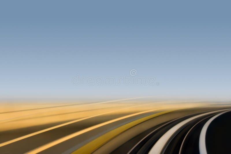 Curva di movimento veloce fotografie stock