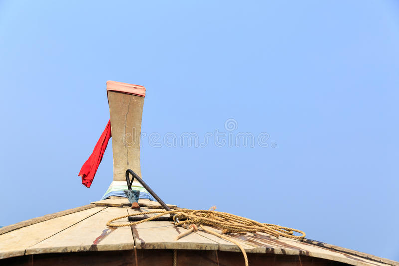 Curva do barco tailandês da cauda longa fotografia de stock