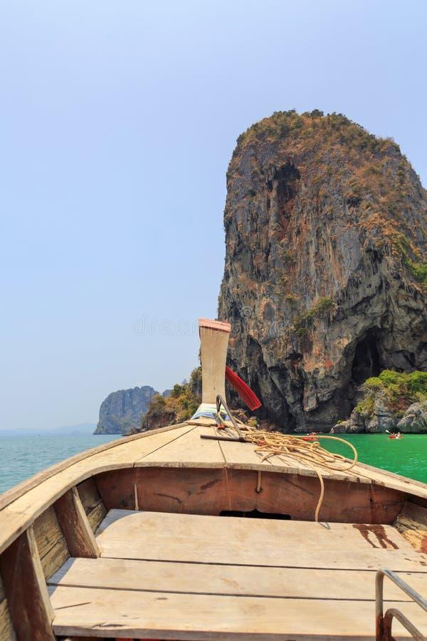 Curva do barco tailandês da cauda longa fotos de stock