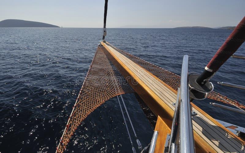 Curva do sailboat fotos de stock