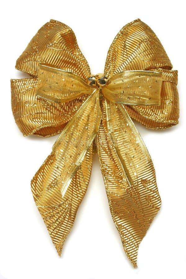 Curva do Xmas do ouro fotos de stock royalty free