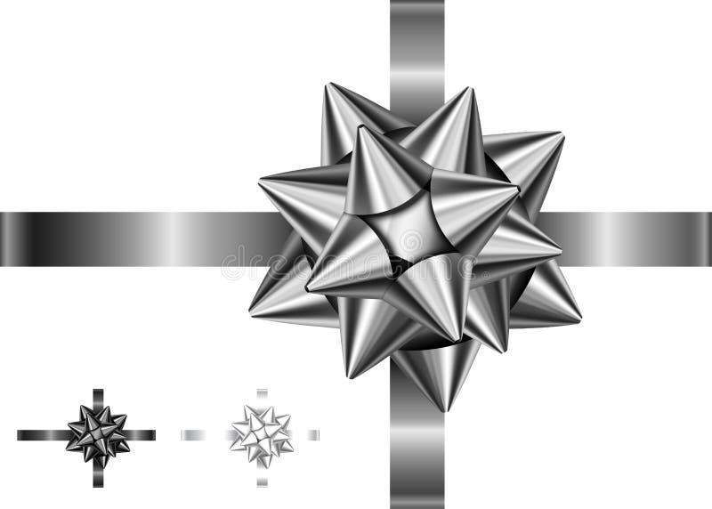Curva e fita pretas e de prata para o projeto preto de sexta-feira ilustração do vetor