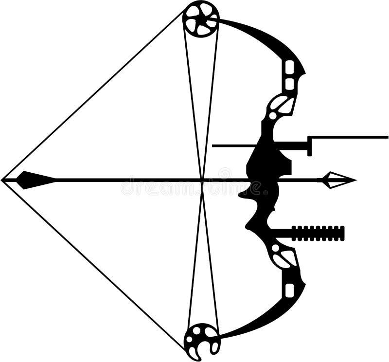 Curva e seta modernas da caça ilustração royalty free