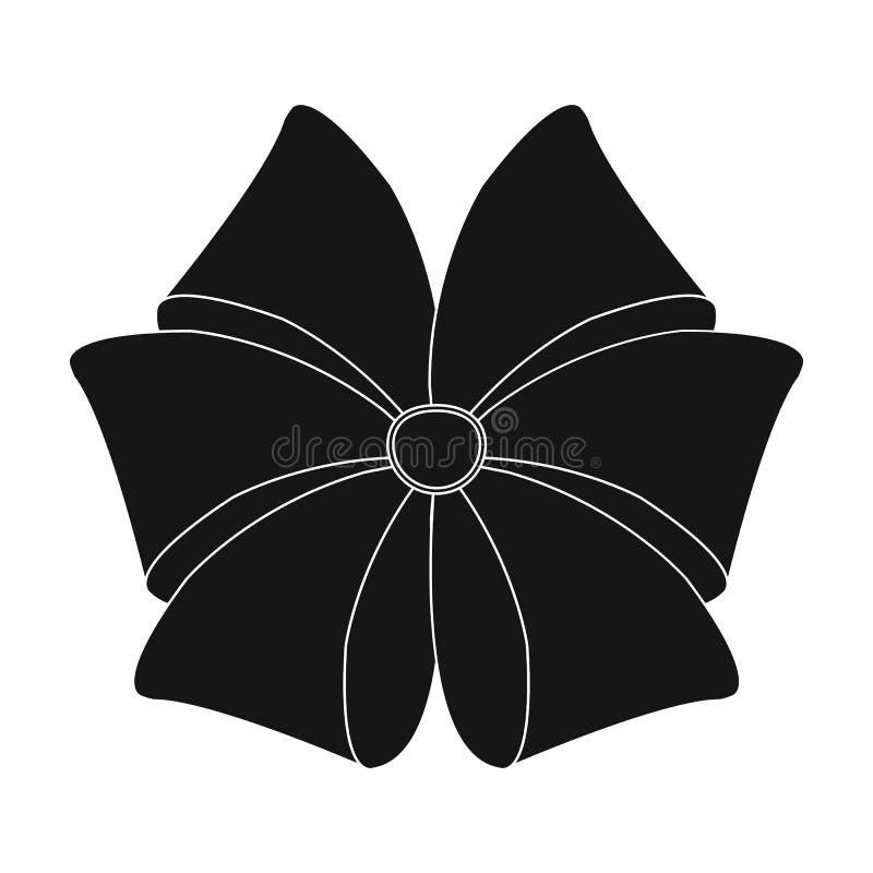 Curva, fita, decoração, e o outro ícone da Web no estilo preto Matéria têxtil, decoração, presente, ícones na coleção do grupo ilustração stock