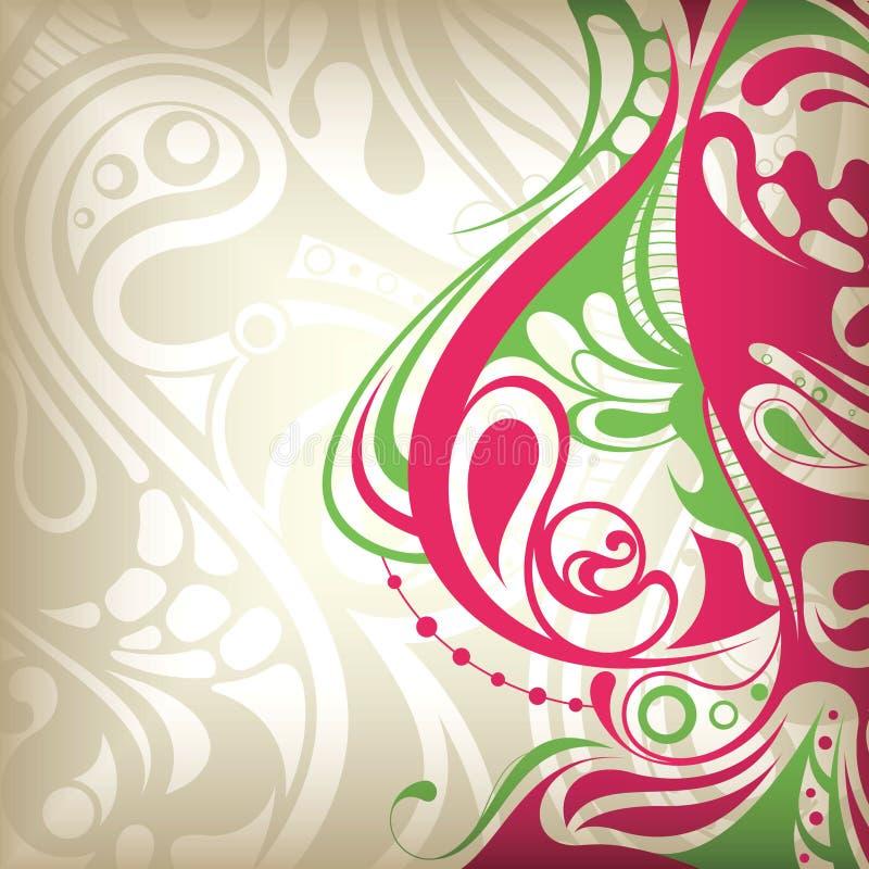 Curva floral abstrata ilustração royalty free