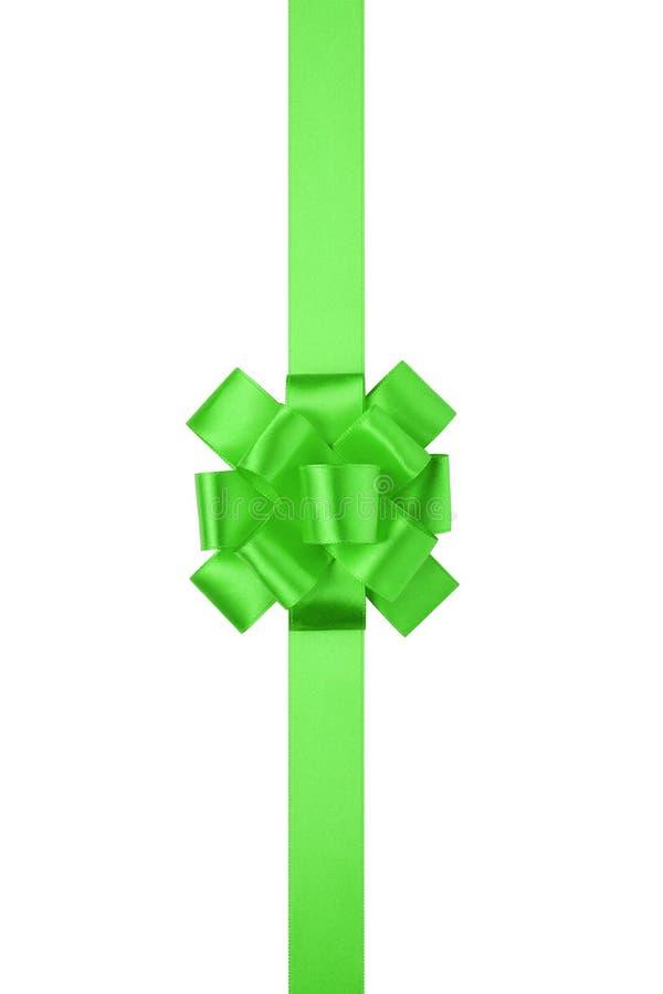 Curva grande vertical verde atual ou da concessão com fita fotografia de stock royalty free