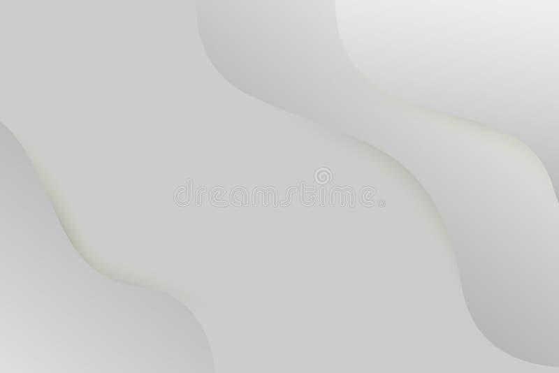 Curva gris del color del modelo abstracto del diseño gráfico stock de ilustración