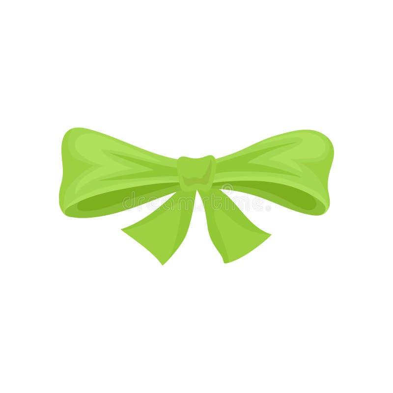 Curva pequena feita da fita verde-clara Elemento liso do vetor para anunciar o cartaz, o inseto ou o cartão Ícone do estilo dos d ilustração royalty free