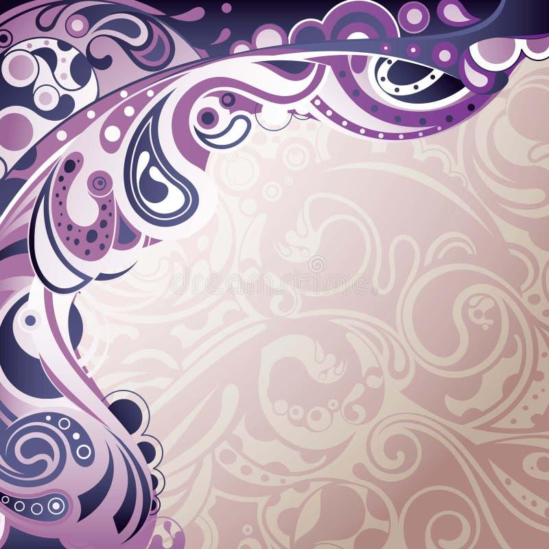 Curva roxa abstrata ilustração stock