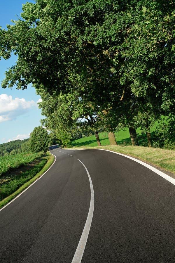Curva vazia da estrada imagens de stock royalty free
