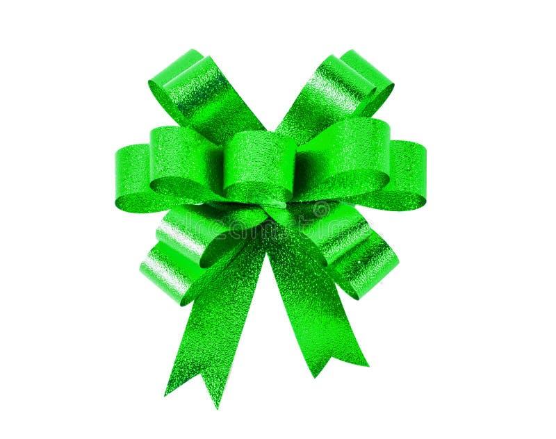 Curva verde do presente Fita Isolado no branco fotografia de stock royalty free