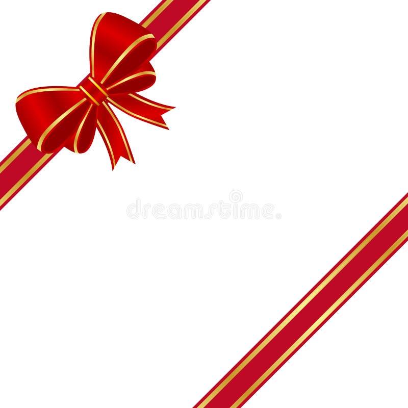 Curva vermelha ilustração stock
