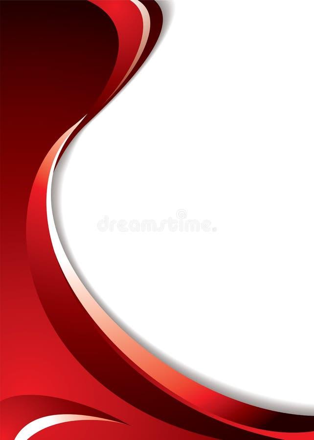 Curva vermelha ilustração do vetor